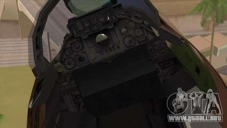 Grumman F-14A IRIAF para GTA San Andreas vista hacia atrás