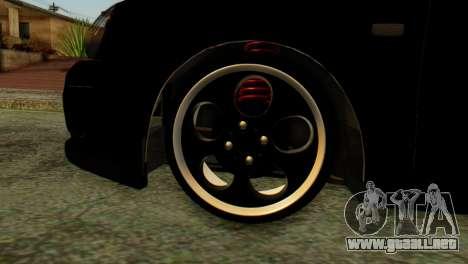 VAZ 2172 Coupe para GTA San Andreas vista posterior izquierda
