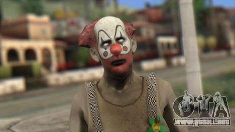 Zombie Clown from Left 4 Dead 2 para GTA San Andreas tercera pantalla