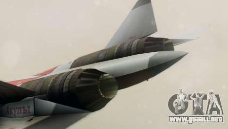 T-50 PAK-FA -Akula- para la visión correcta GTA San Andreas
