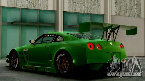 Nissan GT-R (R35) GT3 2012 PJ1 para GTA San Andreas vista posterior izquierda