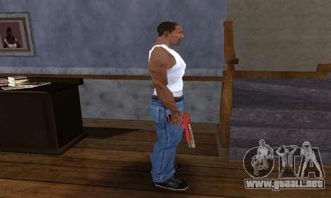 Black and Red Deagle para GTA San Andreas tercera pantalla