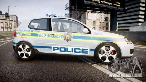 Volkswagen Golf South African Police [ELS] para GTA 4 left
