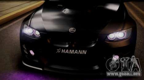 BMW M3 E92 Hamman para la vista superior GTA San Andreas