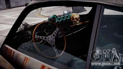 Volkswagen Karmann Ghia 67 (Slammed Rat) para GTA 4 vista hacia atrás