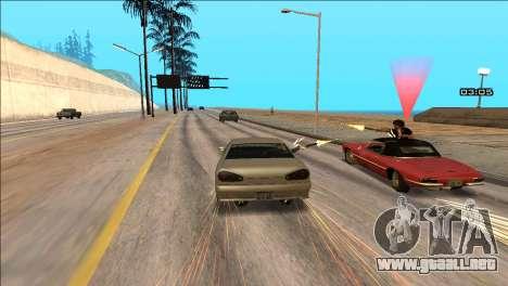 COP Plus para GTA San Andreas sucesivamente de pantalla