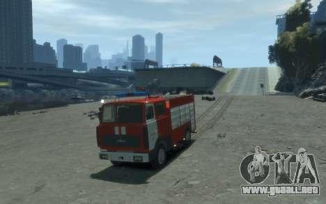 MAZ 533702 Fuego Lipetsk para GTA 4 Vista posterior izquierda