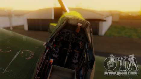Messerschmitt Bf-109 E3 para la visión correcta GTA San Andreas