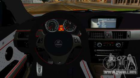 BMW M3 E92 Hamman para GTA San Andreas vista hacia atrás