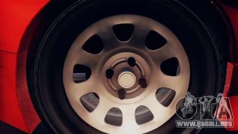 Nissan Onevia para GTA San Andreas vista hacia atrás