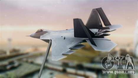 F-22 Raptor para GTA San Andreas left