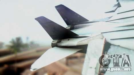 F-14D VF-2 Bounty Hunters para GTA San Andreas vista posterior izquierda