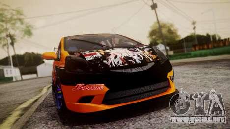 Honda Fit Street Modify Inori Yuzuriha Itasha para GTA San Andreas vista hacia atrás