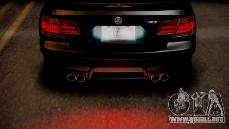 BMW M3 E92 Hamman para GTA San Andreas interior