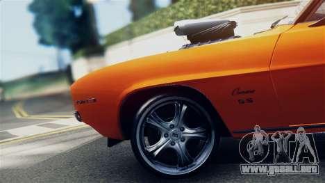 Chevrolet Camaro SS Dragster para la visión correcta GTA San Andreas