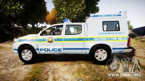 Toyota Hilux 2010 South African Police [ELS] para GTA 4 left