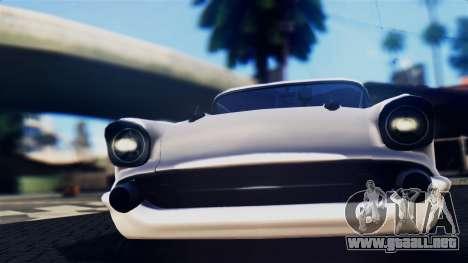 Chevrolet Bel Air 1957 FF Style para GTA San Andreas vista posterior izquierda