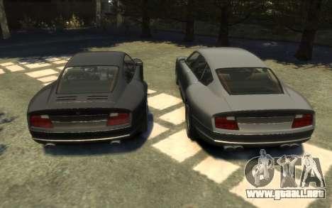 Pfister Alterego para GTA 4 vista hacia atrás