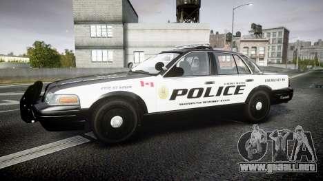 Ford Crown Victoria Alderney Police para GTA 4 left