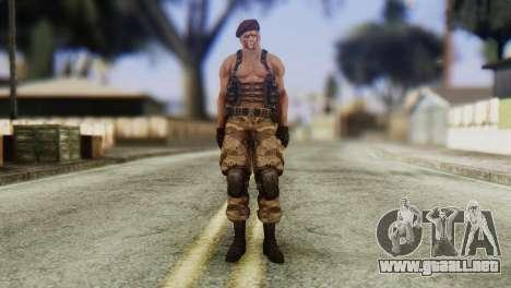 Jack Krauser Skin from Resident Evil para GTA San Andreas segunda pantalla