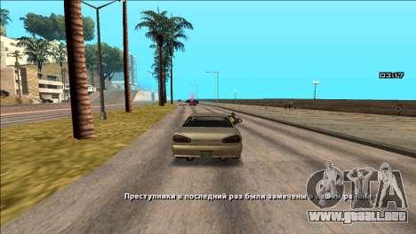 COP Plus para GTA San Andreas segunda pantalla