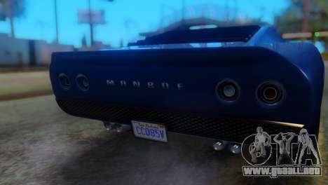 GTA 5 Pegassi Monroe IVF para GTA San Andreas vista hacia atrás