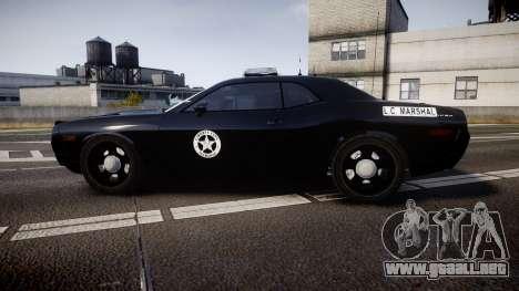 Dodge Challenger Marshal Police [ELS] para GTA 4 left