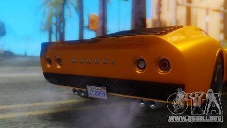 GTA 5 Pegassi Monroe para GTA San Andreas vista hacia atrás