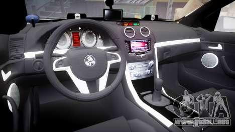 Holden VE Commodore SS Police HWP [ELS] para GTA 4 vista hacia atrás