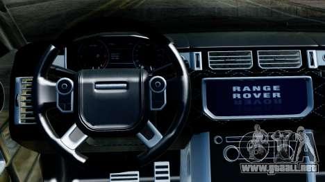 Range Rover Vogue Lumma Stratech para GTA San Andreas vista hacia atrás