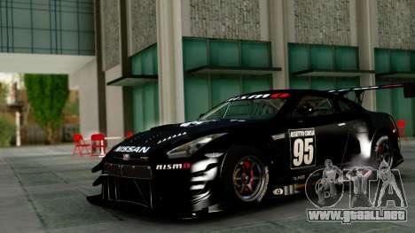 Nissan GT-R (R35) GT3 2012 PJ1 para visión interna GTA San Andreas