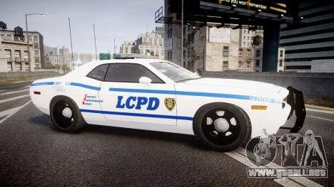Dodge Challenger LCPD [ELS] para GTA 4 left