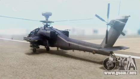 AH-64D Apache Longbow para GTA San Andreas left