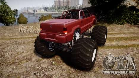 Albany Cavalcade FXT Cabrio Monster Truck para GTA 4 Vista posterior izquierda