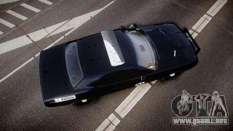 Dodge Challenger Marshal Police [ELS] para GTA 4 visión correcta