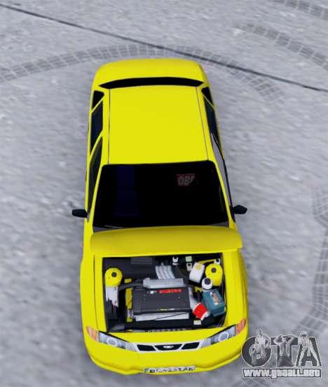 Daewoo Nexia 2006 para GTA San Andreas vista hacia atrás