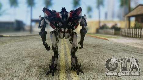 Starscream Skin from Transformers v1 para GTA San Andreas segunda pantalla