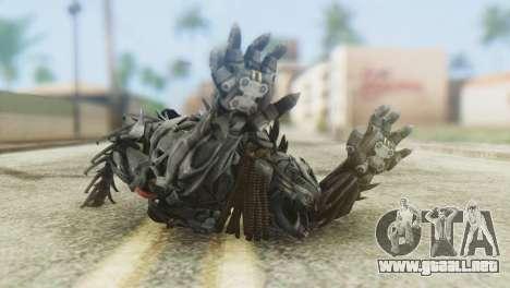 Hatchet Skin from Transformers para GTA San Andreas tercera pantalla