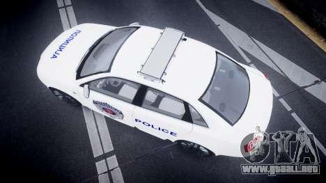 Audi S4 Serbian Police [ELS] para GTA 4 visión correcta