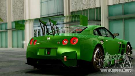 Nissan GT-R (R35) GT3 2012 PJ1 para GTA San Andreas left