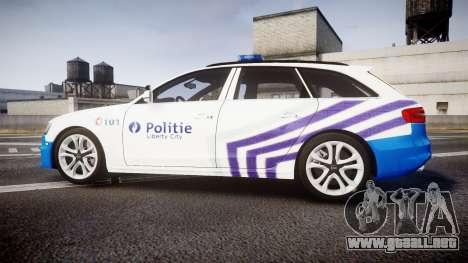 Audi S4 Avant Belgian Police [ELS] para GTA 4 left