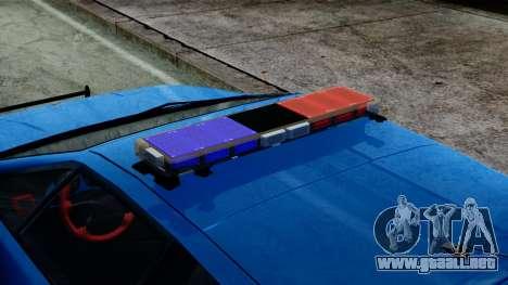 Lotus Esprit S4 V8 1998 Police Edition para GTA San Andreas vista posterior izquierda