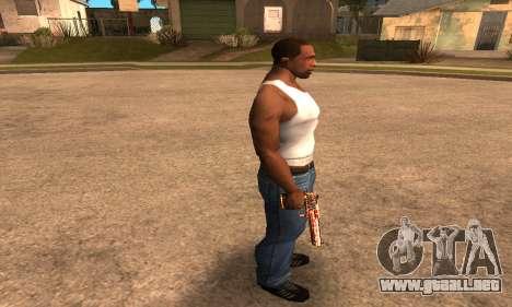 Red Splash Deagle para GTA San Andreas tercera pantalla