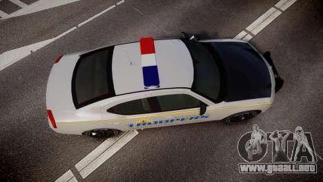 Dodge Charger Alaska State Trooper [ELS] para GTA 4 visión correcta