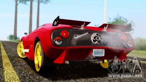 Pegassi Infernus Cento Miglia para GTA San Andreas left
