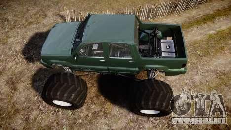 Albany Cavalcade FXT Monster Truck para GTA 4 visión correcta