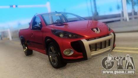 Peugeot 206 TowTruck para GTA San Andreas