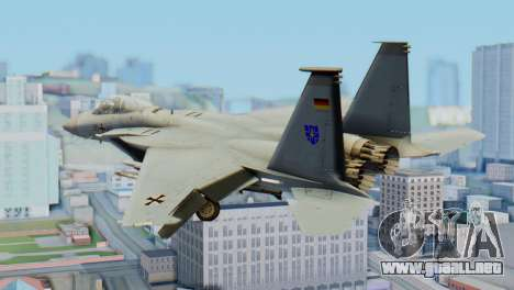 F-15C Eagle Luftwaffe JG 73 para GTA San Andreas left