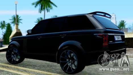 Range Rover Vogue Lumma Stratech para GTA San Andreas vista posterior izquierda
