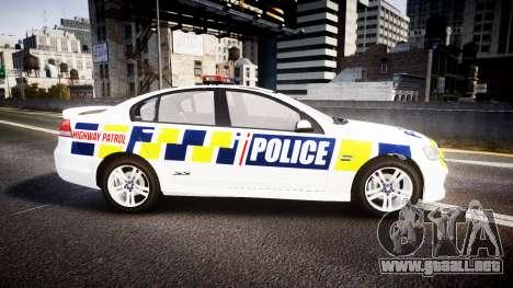 Holden VE Commodore SS Police HWP [ELS] para GTA 4 left